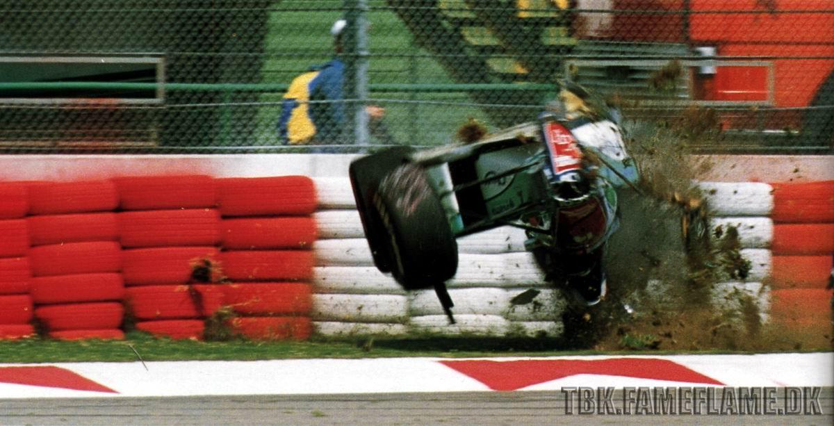 Acidente de Rubens Barrichello no triste Gp de San Marino em 1994 by formulatotal.wordpress.com