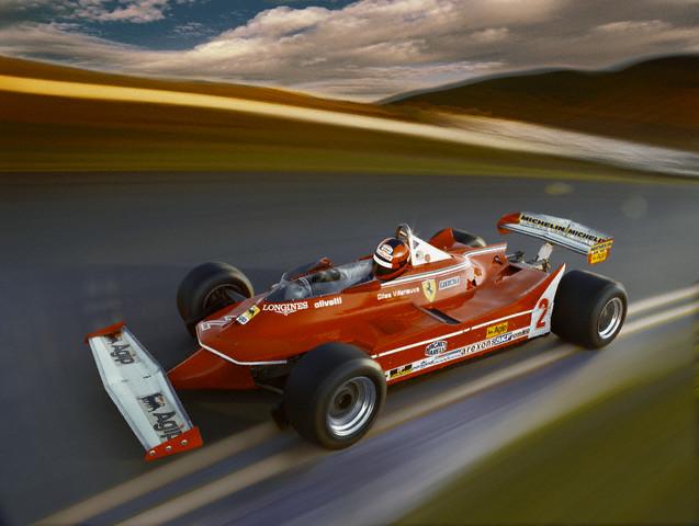 Gilles Villeneuve Driving Ferrari 312 T5 Formula One Racecar