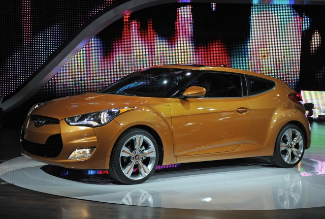 Hyundai unveils the Veloster at the 2011 NAIAS in Detroit