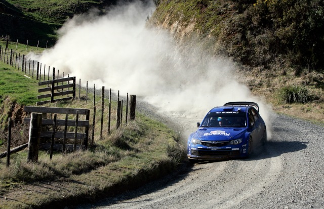 SWRT driver Petter Solberg in action on SS4.1, Day 1 of Rally New Zealand 2008