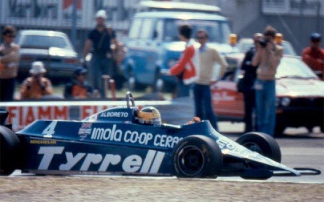 Alboreto Tyrrell 1981 Imola
