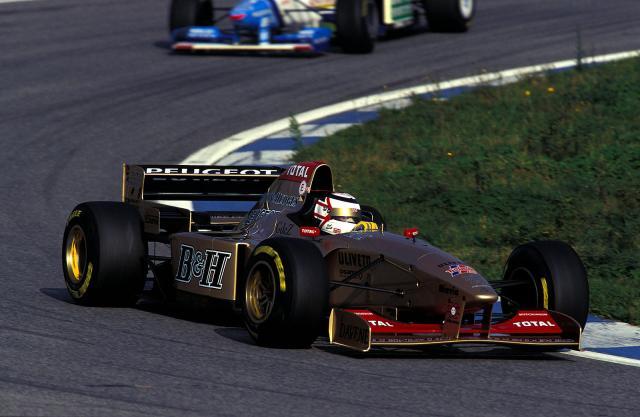 Mansell 1996 Teste Jordan Catalunha
