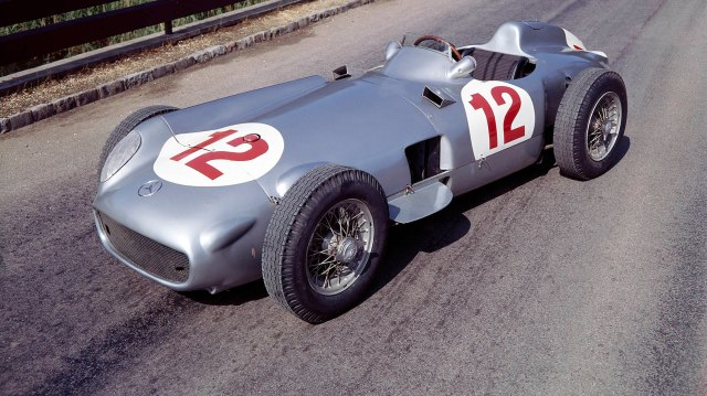 1954 Mercedes W196. Juan Manuel Fangio drove a W196 during the 1954 World Drivers Championship (Photo by National Motor Museum/Heritage Images/Getty Images)